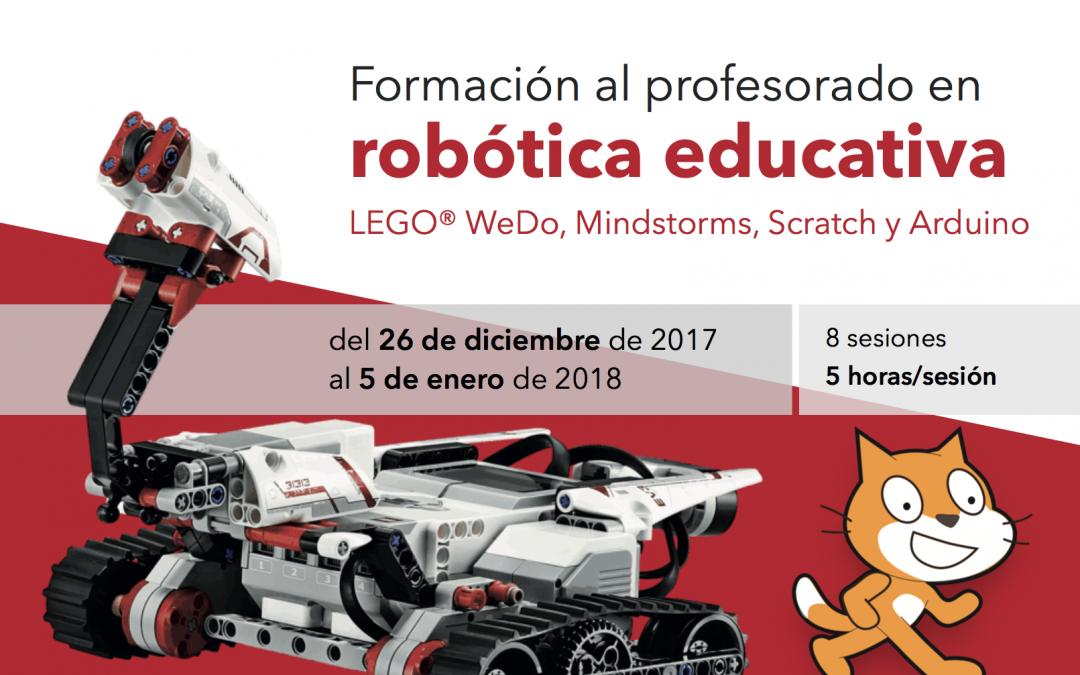 ¡Nueva convocatoria! Curso intensivo de formación al profesorado en robótica educativa