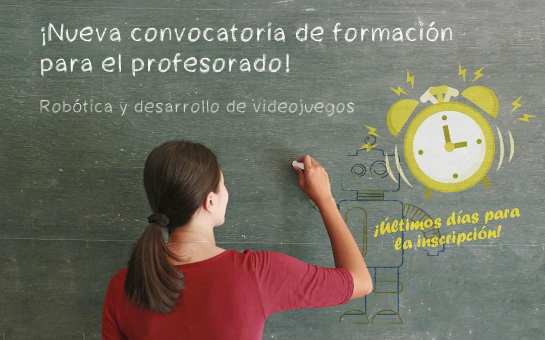 ¡Últimos días para acceder al curso intensivo para formación del profesorado en robótica y videojuegos!