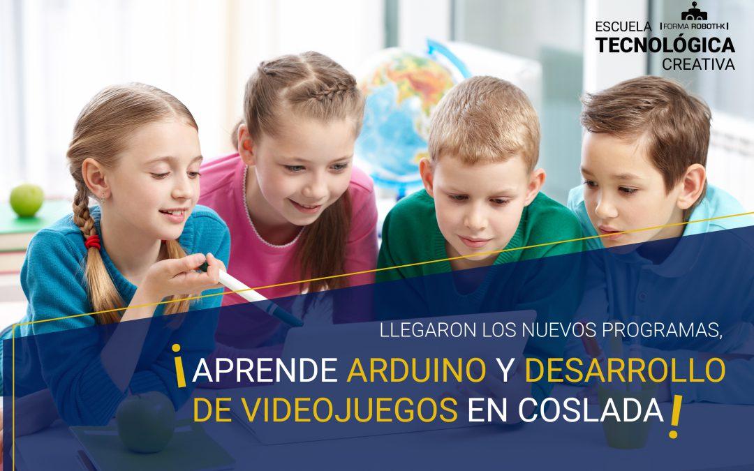 Llegaron los nuevos programas, ¡aprende Arduino y desarrollo de videojuegos en Coslada!