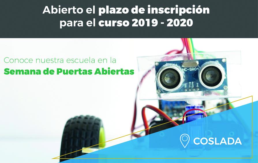 Abierto plazo de inscripción 2019 – 2020