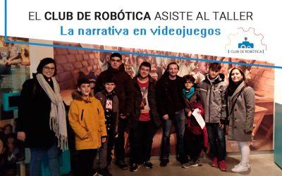 El club de robótica aprende sobre narrativa en videojuegos