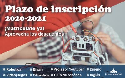 Abierta inscripción curso 2020/21 | Escuela Tecnológica Creativa