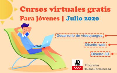 Cursos virtuales gratis para jóvenes | Julio 2020