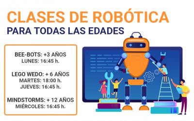 Clases de robótica de 3 a 14 años, en diferentes grupos