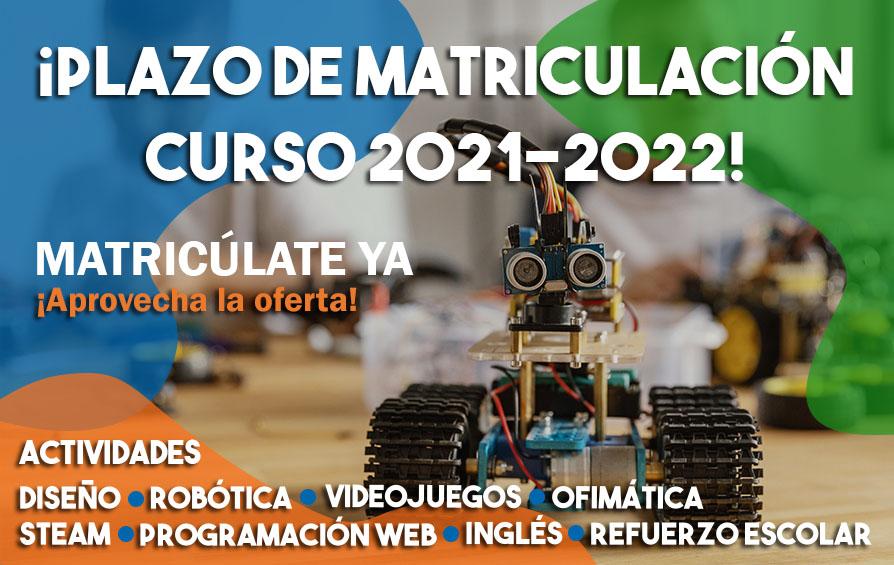 Abierto plazo de inscripción 2021-2022 | Robótica, diseño, programación y más