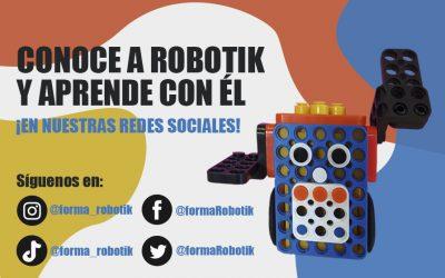 Conoce a robotik y aprende con él   ¡Síguelo en redes sociales!